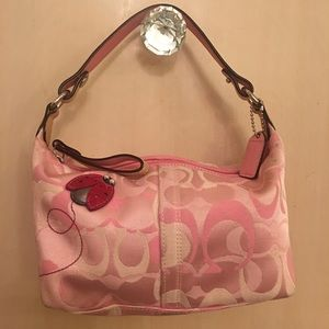 Coach canvas ladybug mini bag